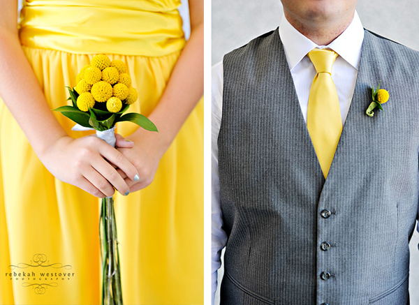i love this yellow gray wedding and all the details everything is so